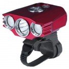 B30 Bike Light, Black/Red, 1000 lm, 4x18650