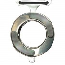 Vicious Circle, Stainless Steel, Polished w/Black Pearl